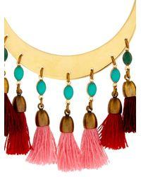Isabel Marant - Red Mild Tassel Hoop Earrings - Lyst