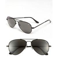 Randolph Engineering Black 'concorde Classic' 57mm Polarized Sunglasses for men