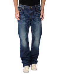 PRPS Noir Blue Denim Trousers for men