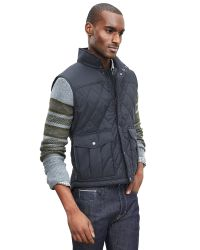 Banana Republic | Blue Diamond Quilted Vest for Men | Lyst