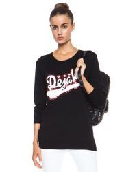 Markus Lupfer - Black Deja Vu Sequin Nat Merino Wool Sweatshirt - Lyst