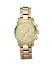 Michael Kors - Metallic Michael Mini Ladies Sport Brushed and Shiny Goldtone Watch 33mm - Lyst
