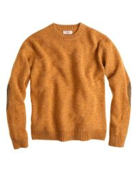 J.Crew Yellow Wallace  Barnes Shetland Wool Sutherland Sweater for men