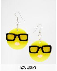 Tatty Devine | Yellow Emoji Earrings Exclusive | Lyst
