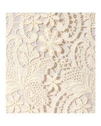 Nina Ricci White Lace Skirt
