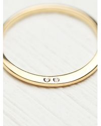 Free People | Metallic Nora Kogan Womens Loved Ring With Diamonds | Lyst