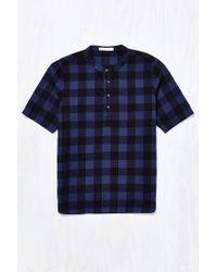 Alternative Apparel | Blue Crusade Plaid Popover Shirt for Men | Lyst