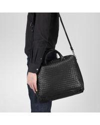 Bottega Veneta Black Nero Intrecciato Light Calf Informale Bag for men