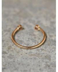 Free People | Metallic Zoe Chicco Womens Twin Diamond Ring | Lyst