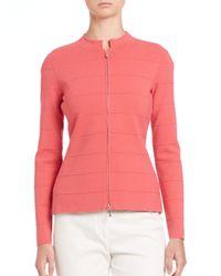 Armani - Pink Tonal Piping Stripe Jacket - Lyst