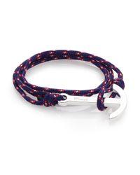 Miansai | Blue Modern Anchor Maritime Rope Wrap Bracelet for Men | Lyst