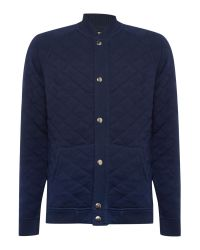 Lee Jeans | Blue Long Sve Quilted Sweat Bomber Jacket for Men | Lyst