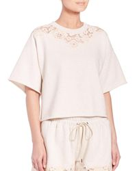 3.1 Phillip Lim | Beige French Terry Boxy Tee | Lyst
