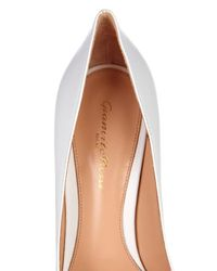 Gianvito Rossi White Business Point-Toe Leather Pumps