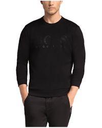 BOSS Green Black Sweatshirt: 'salbo' In Cotton Blend for men