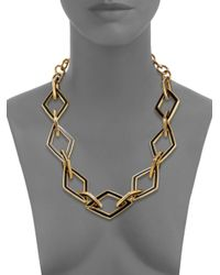 Kenneth Jay Lane | Metallic Kite Open Link Necklace | Lyst
