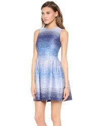 Shoshanna Blue Helena Dress