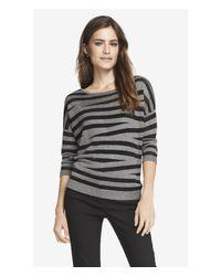 Express Gray Zebra Print Dolman Sweater