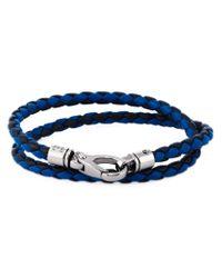 Tod's | Blue Braided Double Strap Bracelet for Men | Lyst