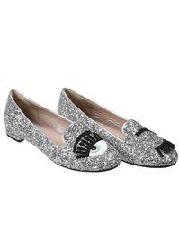 Chiara Ferragni - Gray Flat Shoes - Lyst