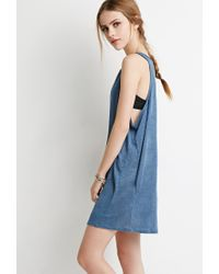 Forever 21 - Blue Linen Tank Dress You've Been Added To The Waitlist - Lyst