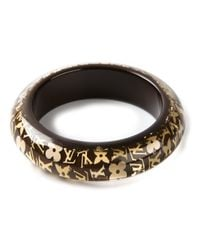 Louis Vuitton | Brown Gold Logo Bracelet | Lyst