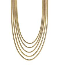 Vince Camuto | Metallic Opposites Attract Goldtone Multi-chain Necklace | Lyst