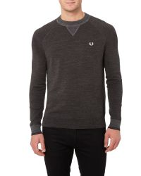 Stussy | Gray Budding Yarm Tipped Crew Neck Sweat for Men | Lyst