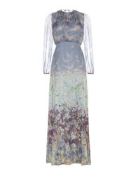 Valentino Multicolor Printed Silk Dress
