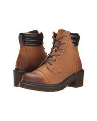 Dr. Martens - Brown Alexandra 6-eye Padded Collar Boot - Lyst
