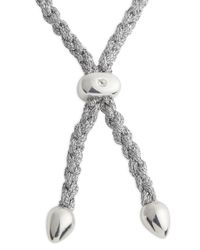 Monica Vinader Metallic Esencia Sterling Silver Bracelet