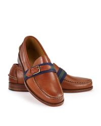 Ralph Lauren - Green Eallard Ribbon Loafer for Men - Lyst