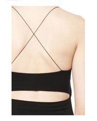 Alexander Wang | Black Cutout Modal Cami Dress | Lyst