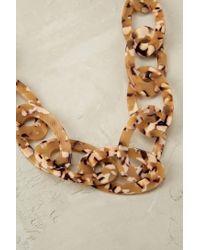 Anthropologie - Metallic Caro Tortoiseshell Necklace - Lyst