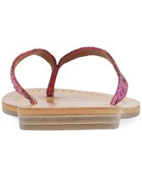 Lucky Brand Red Women's Amberr Flip Flops