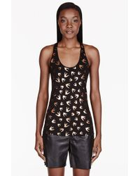 McQ | Black Bird Print Tank Top | Lyst