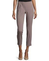 Lafayette 148 New York - Purple Stanton Straight-leg Ankle Pants - Lyst
