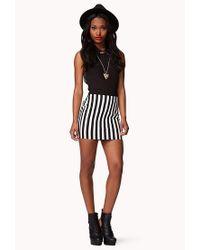 Forever 21 Black Vertical Striped Pencil Skirt