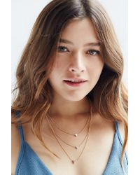 Urban Outfitters - Metallic Triple Heart Necklace - Lyst