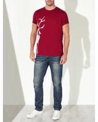 John Lewis Red Vintage Reindeer Organic Cotton T-shirt for men