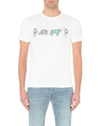 Paul Smith - White Symbols Cotton-jersey T-shirt for Men - Lyst