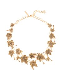 Oscar de la Renta | Metallic Ivy Necklace | Lyst