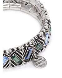 Philippe Audibert | Blue Loa Ethnic Crystal Elasticated Bracelet | Lyst