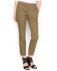 Eileen Fisher - Green Tapered Ankle Pants - Lyst