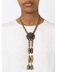 Jean Paul Gaultier | Metallic Thimbles Pendant Necklace | Lyst