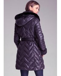 Bebe Black Quilted Puffer Jacket