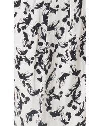 Tibi - White Koi Jacquard Wrap Skirt - Lyst