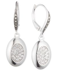 Judith Jack | Metallic Sterling Silver Marcasite And Crystal Drop Earrings | Lyst