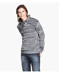 H&M | Gray Knitted Jumper for Men | Lyst