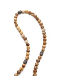 Hipchik Couture | Natural Agate Y Necklace - Beige | Lyst